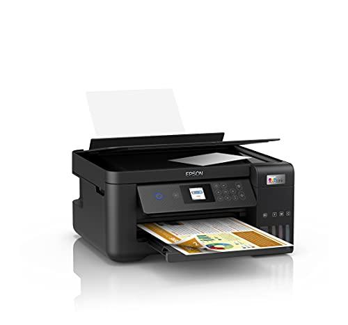 Epson EcoTank ET-2850 | Impresora WiFi A4 Multifunción con Depósito Tinta Recargable, Impresión Doble Cara Automática (Dúplex) y Pantalla LCD | 3en1: Impresión, Copiadora, Escáner | Mobile Printing
