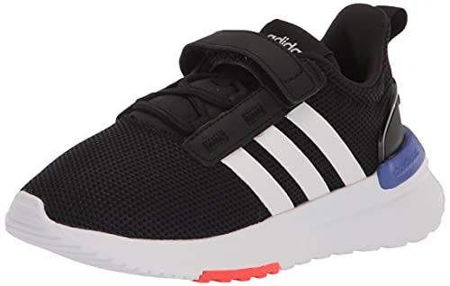 adidas Racer TR21 Running Shoe, Black/White/Sonic Ink, 5 US Unisex Big Kid