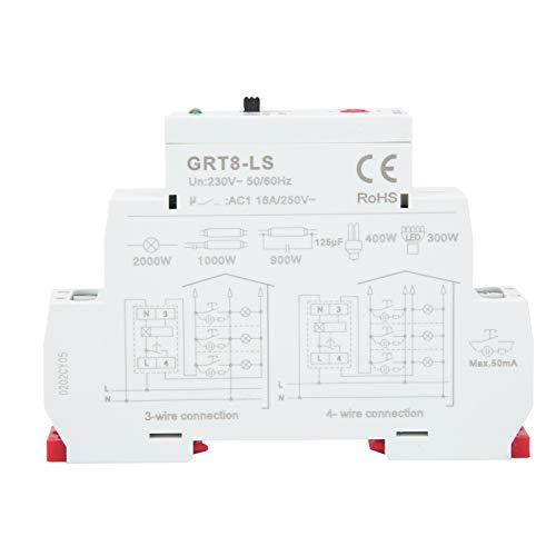 Eujgoov Time Relay Delay Interruptor de escalera Equipo de control de distribución de energía Rango de retardo de 0.5-20min GRT8-LS AC230V
