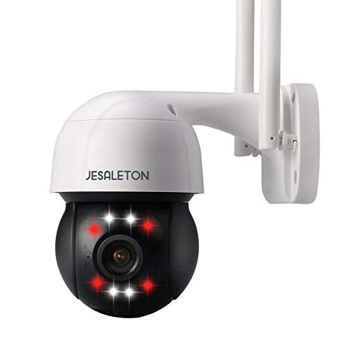 JESALATON Outdoor Security Camera Auto Tracking Function,1080P Pan/Tilt 2.4G WiFi Camera Wired with IP66 Waterproof,CCTV WiFi Camera, Two-Way Talk, 65ft Night Vision, Cloud/SD