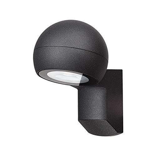 Zziyj Outdoor Wall Wall Sconence LED Moderno Porche Light 3000K Impermeable IP65 Lámparas Exterior Lámparas Exterior Montaje De La Pared Para El Baño Delantero Del Jardín Pórtico Garaje 15.6cm X 18.5c