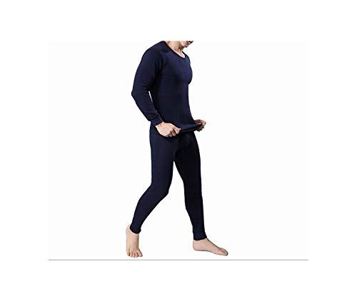 Men's Thermal Underwear Sets Winter Warm Men's Underwear Men's Thick Thermal Underwear Long Johns,Navy Blue,XXL
