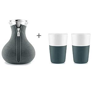 Eva Solo Teezubereiter mit 2 Becher petrol Teekanne mit Überzug 1,0 Liter