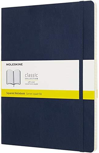 Moleskine Notizbuch, Xlarge, Kariert, Soft Cover, Saphir