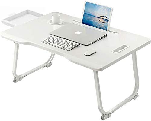 767 Computer-werkstation (wit) Tavolo computer-Tavolino da Divano-Tavolo da Letto-Tavolino pc Letto-Scrivania Pieghevole-Tavolino Pieghevole da Letto-Tavolo Snack-Tavolo pc