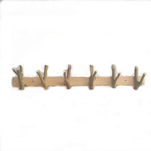 Kapstok Handgemaakte houten haak, Creatieve kledinghaak, De deur binnengaan Kapstok, Hangende kapstok, Gekoppelde takken, 6 haken