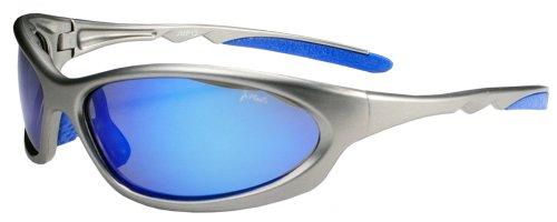 Polarized Active Wear Sunglasses P13 (Gunmetal Grey & Blue Mirror)