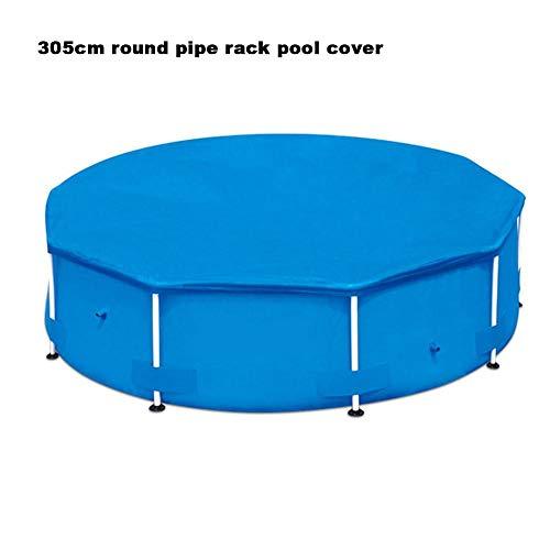 Poolabdeckung Rund Rechteckig Aufblasbare Blau Mehrere Größen PVC + Polyester Staub- Und Regenschutz Geeignet Für Schwimmbadschutzabdeckung