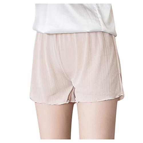 KPPONG Leggings, Sexy Miederhosen,Yogahose,Miederpants,Hosen,Höschen,Unterwäsche Shorts, Taillenformer,Sporthose, Damen High Waist Kurze Solid Stretchy Unterwäsche Pocket Safety,Hotpants Fitness