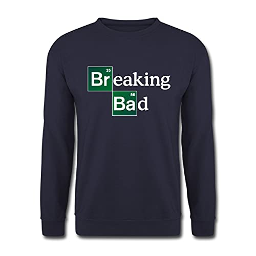 Spreadshirt Breaking Bad Logo Brom & Barium Unisex Pullover, L, Navy