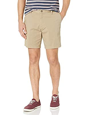 Nautica Men's Cotton Twill Flat Front Stretch Chino Short, True Khaki, 38W