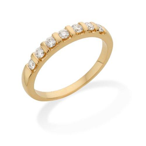 Miore Ring Damen 0.35 Ct Diamant Ewigkeitsring aus Gelbgold 18 Karat / 750 Gold, Schmuck mit Diamanten Brillanten