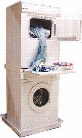 DREHFLEX - Zwischenbaurahmen Waschsäule für Waschmaschine und Trockner/mit Auszug