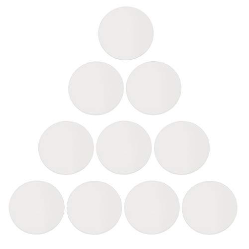 Harilla Reemplazo De Vidrio De Lente De Cristal De Reloj Plano De 10 Piezas para Reparación De Relojero - 36mm