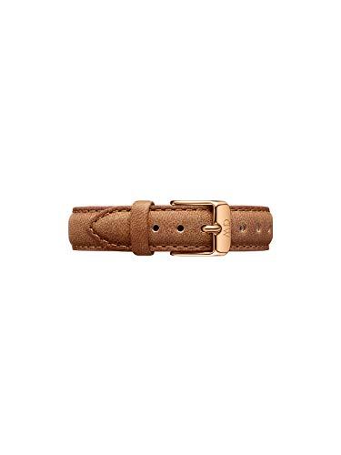 Daniel Wellington Petite Durham, Hellbraun/Roségold Uhrenarmband, 14mm, Leder, für Damen