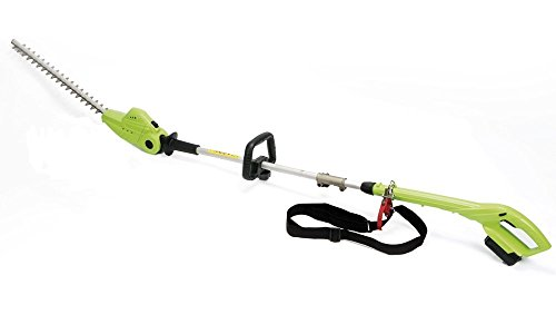 Cordless Hedge Trimmer Extendable Long Reach Telescopic Pole with 18V Battery Included by Garden Gear (Pole Hedge Trimmer)