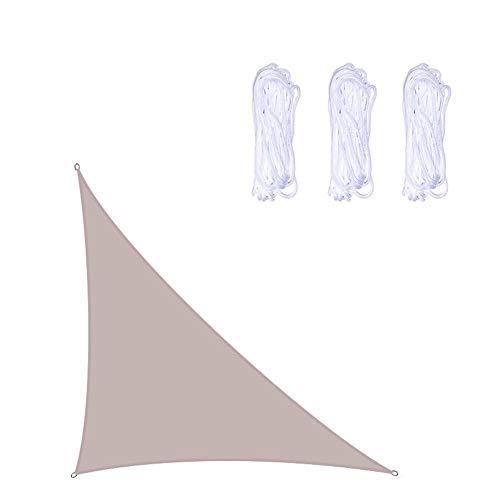 DAZM wasserdichte Sonnenschutz, Dreieck Sonnensegel, Außen Garten Terrasse Partei Sonnenschutz-Markise Markise 98% UV-Schutz. (3 x 3 x 4.3 m,Grau)