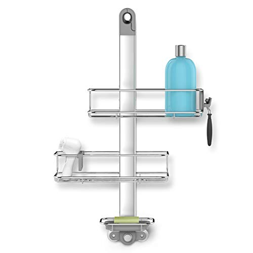 simplehuman Adjustable Shower Caddy, Stainless Steel + Anodized Aluminum...