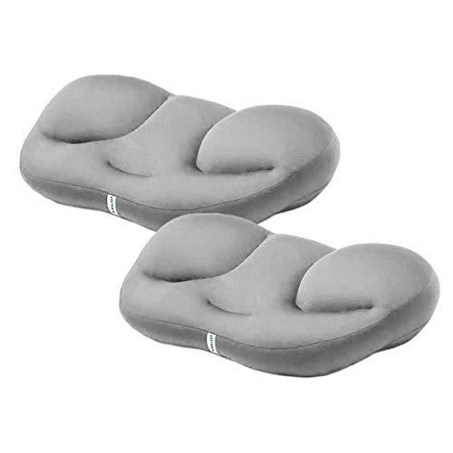 Pamura - 2 Stück Air Sleep - Kopfkissen - ergonomisches Kissen - 8 Millionen Airballs - gegen Nackenschmerzen - waschmaschinenfest - Abnehmbarer Bezug - hellgrau - Pärchen Aktion