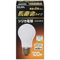 (まとめ)朝日電器 長寿命シリカ電球 100W形 E26 LW100V95W-W(×50セット)ds-2277100ata