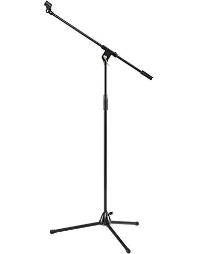 FITUEYES Stativausleger Mikrofonständer Mikrofonständer mit Mikrofoncliphaltern Höhenverstellbare Schwermetallbasis