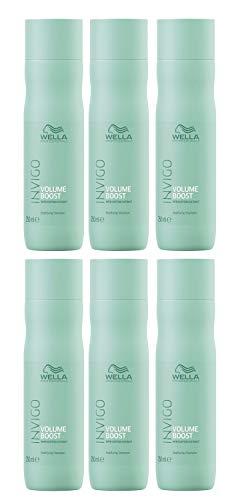Wella Invigo Volume Boost Bodifying Champú de 250 ml, 6 unidades