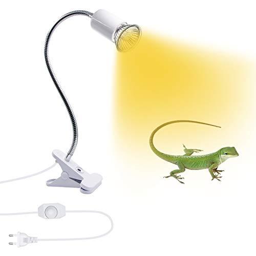 Luz de planta, E27 Portalámparas Clip, Lámpara Escritorio LED, Luz de Planta Luz Para Leer Soporte de Lámpara de Clip E27 con Cuello Giratorio de 360° Base de Luz E27 con Interruptor y Enchufe