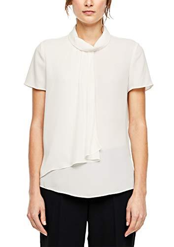 s.Oliver BLACK LABEL Damen Crêpe-Bluse im Layer-Look Cream 42