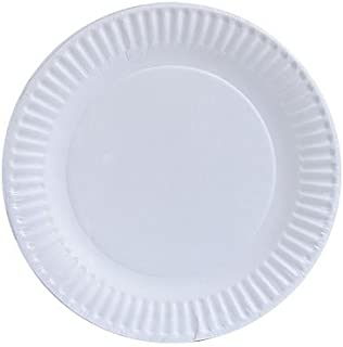 Nicole Home Collection 80 Count Everyday Dinnerware Paper Plate, 6-Inch, White