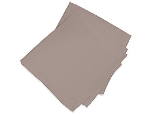 Soleil d'ocre 838234 ALIX Lot de 3 Serviettes de table Polyester Moka 40x40 cm