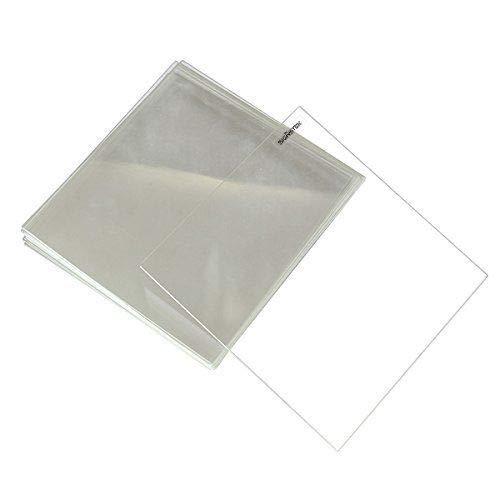 Placa de cristal de borosilicato para impresoras 3D, 300 mm x 300 mm x 4 mm, cristal perfectamente plano con bordes pulidos