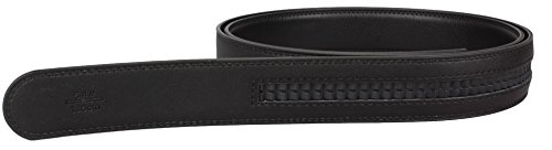 Black automatic belt leather belt - Split leather automatic buckle belt - approx. 3.5cm wide - length 160cm