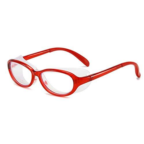 HMMJ Niños Anti Saliva Anti Polen Gafas de Seguridad sobre anteojos con Protector Lateral, Protección UV Niños Niñas Gafas de Silicona con luz Protectora para niños de 3 a 10 años (Color : Red)