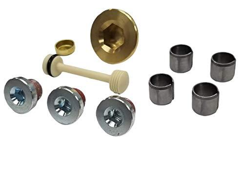 LS Engine Block Oil & Coolant Galley Plug & Cylinder head Dowel Pin Kit Expansion Freeze Barbell Compatible with all GM Chevy LS Series Engines LS1 LS3 LS2 LQ4 LQ9 LS6 4.8L 5.3L 6.0L 6.2L Vortec