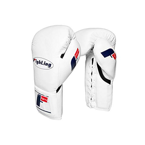 Fighting Certified Pro Fight Gloves, White, 10 oz