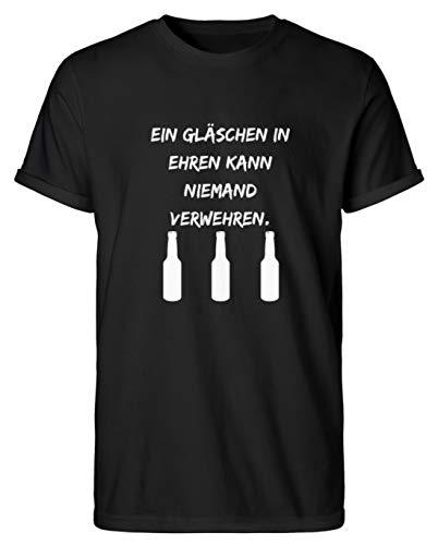 SPIRITSHIRTSHOP Dios inventó el Vino, Dios inventó la Cerveza, Pero los chupitos llamamos – Camiseta para Hombre Rollup