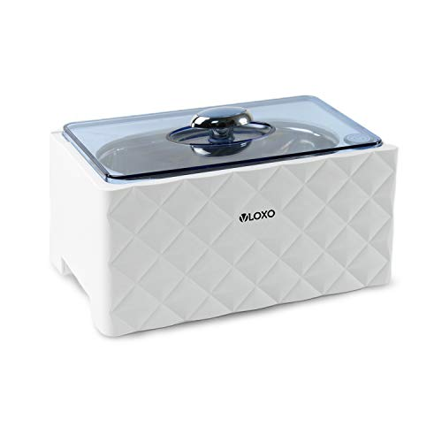 VLOXO Ultraschallgerät 450ml Ultraschallreinigungsgerät Ultraschallreiniger 42khz für Brille Uhren Schmuck Bürsten Rasierer Zahnprothesen Tattoo Werkzeuge MEHRWEG
