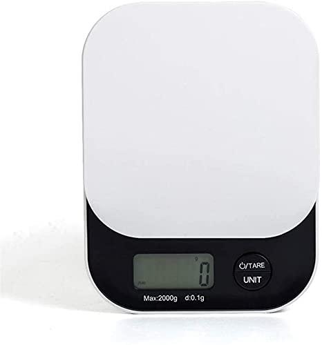 BBGSFDC 2kg * 0.1g, Portátil de Alta precisión, báscula d