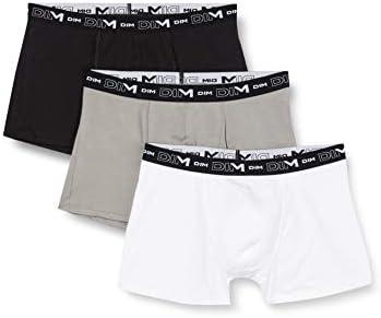 Dim Coton Stretch Boxer X3 Bañador, Noir/Gris/Blanc, XXX-Large (Talla del Fabricante: 7) (Pack de 3) para Hombre