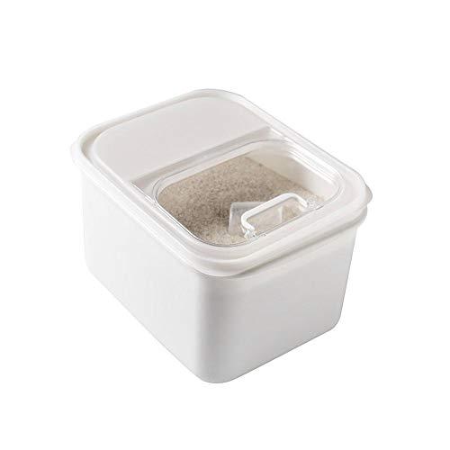 Wonderfulrita Reislagerbehälter Versiegelt Feuchtigkeitsfest Insektengeschützt Langlebig Weiß Multifunktionshaushalt Küche Lebensmittel Aufbewahrungsbox Mit Deckel Für Reis, Getreide, Muttern, Bohnen