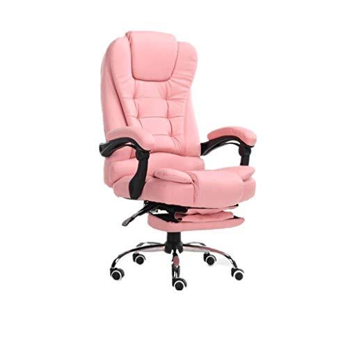 DKee. Buying Ergonomischer Spiel Stuhl Bürostuhl, Schreibtisch Lederimitat Stuhl Reclining elektrische Massage-Funktion Stuhl (Color : Pink)