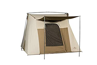 TETON Sports Mesa 10 Canvas Tent; 6 Person Family Camping Tent, Room with a View