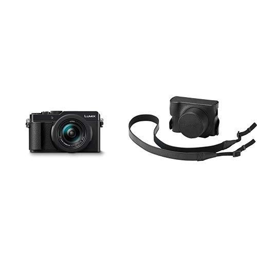 """Panasonic Lumix DC-LX100 II - Cámara Compacta Premium de 17 MP (Sensor de 4/3"""", Objetivo F1.7-F2.8 de 24-75 mm, Zoom de 3X, Táctil, 4K, WiFi, Bluetooth, Raw), Color Negro + Funda de Piel"""