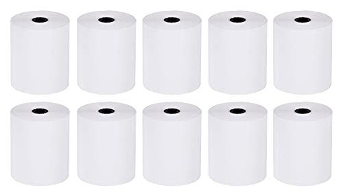 2 1/4 x 50' Thermal Receipt Paper Credit Card Paper, Individual Packed, Made in South KOREA, Receipt Paper Supplies Compatible with Verifone Vx520 Vx670 Vx680 Ingenico iCT220 iCT250 FD400 (10 Rolls)