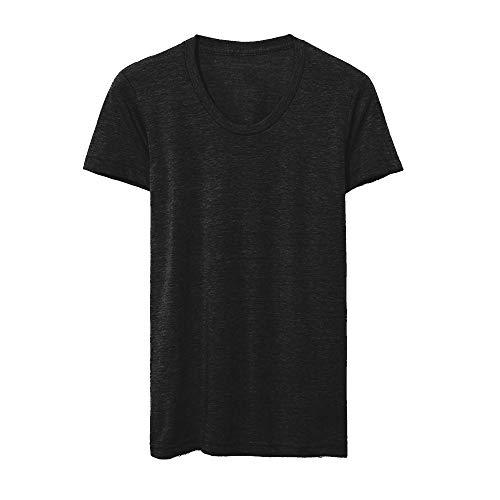 American Apparel Womens/Ladies Tri-Blend Track T-Shirt (M) (Tri-Black)