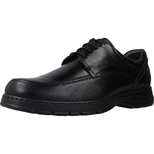 Fluchos   Zapato de Hombre   CRONO 9142 Savate Negro Zapato Confort   Zapato de Piel de Ternera engrasada de Primera Calidad   Cierre con Cordones   Piso Personalizado Fluchos Light