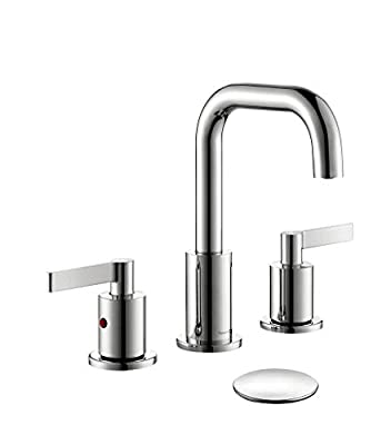 TimeArrow Widespread 2-Handle Bathroom Sink Faucet Chrome Vanity Faucet with Pop-Up Drain Assembly, TAF288S-CP