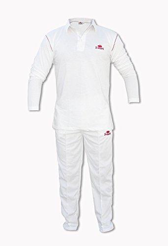 S-Mark SMARKJRF28T Polyester Full-Sleeves Jersey (Kids Size T-Shirt), Chest Size 28 Trouser 24 Waist Length 34 (White)