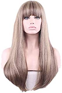 European and American fashion natural women's long hair wig
