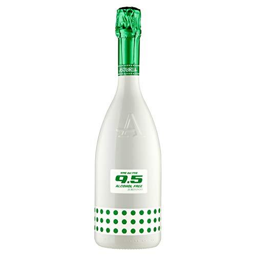 Astoria 9.5 Zerotondo Alcohol Free Spumante - 3 bottiglie da 750 ml, Totale:2.25 l
